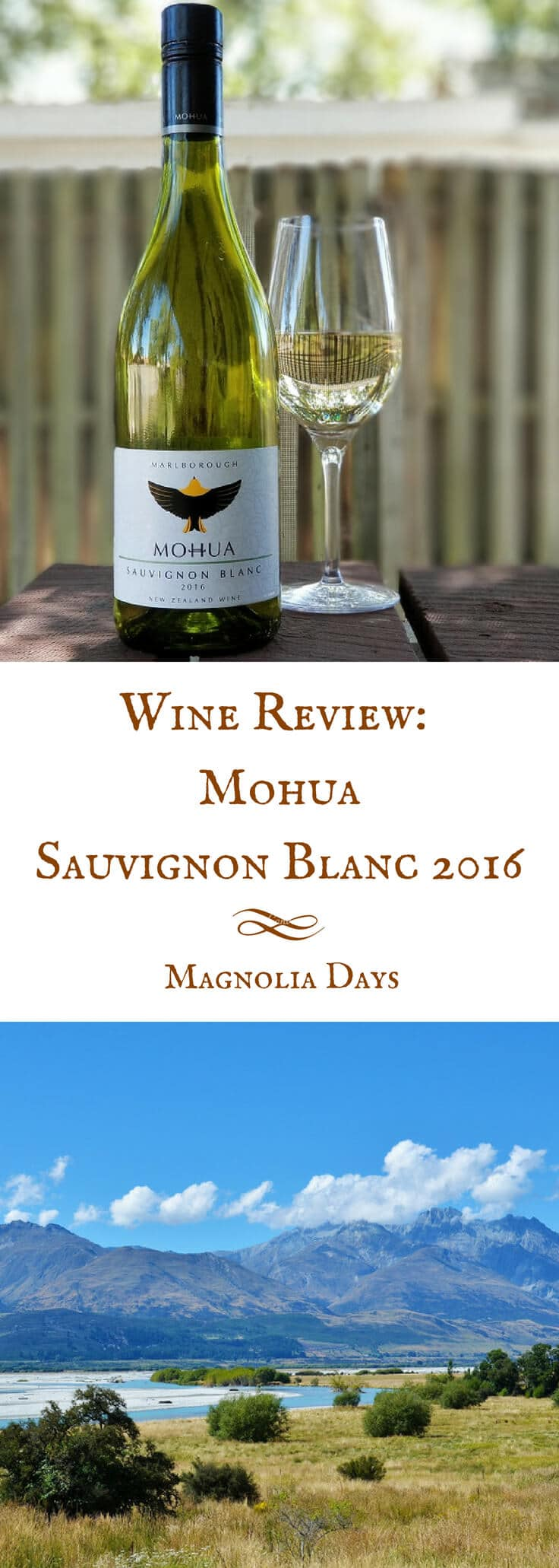 A review of Mohua Sauvignon Blanc 2016, a white wine from Marlborough, New Zealand with a bright, tropical, and lightly vegetal flavor. Find out why I liked it, plus recommended food pairings.
