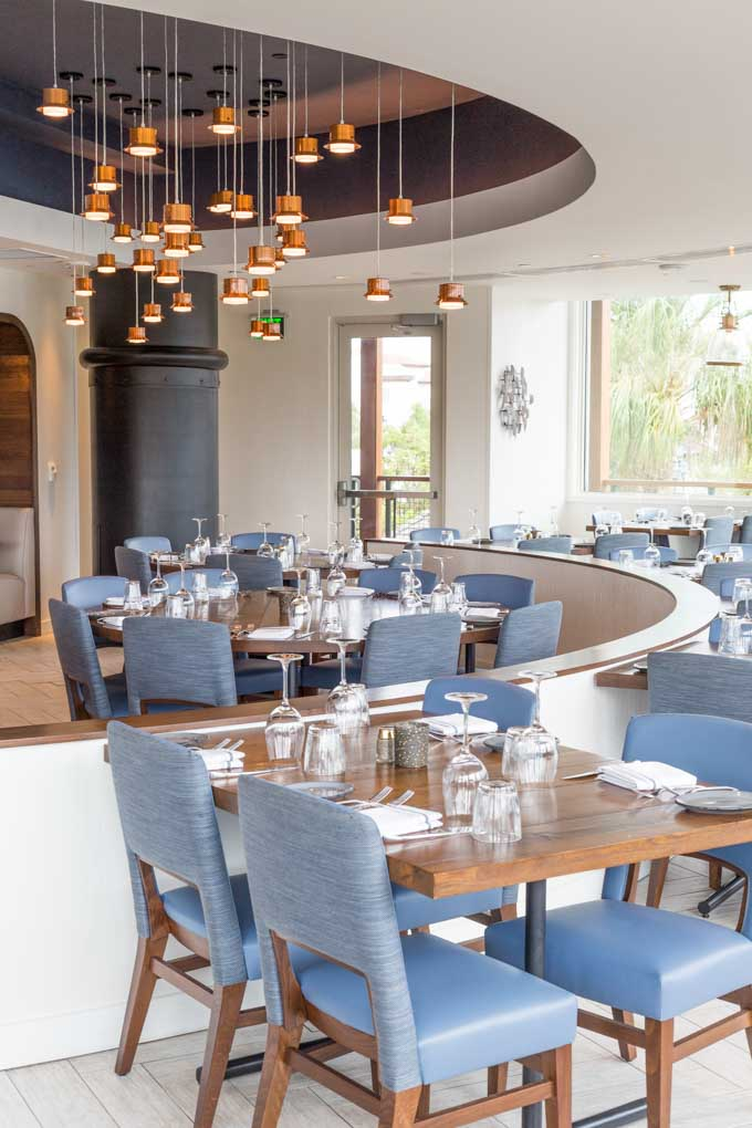 Paddlefish restaurant tables