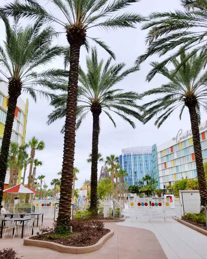 Universal's Cabana Bay Beach Resort with Palm Trees