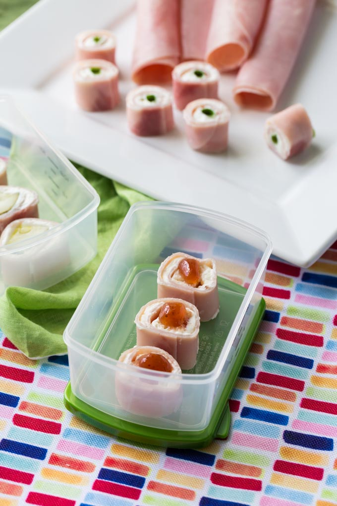 Ham and Cream Cheese Roll Ups Tray