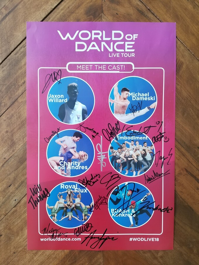 World of Dance Tour Autographed Poster