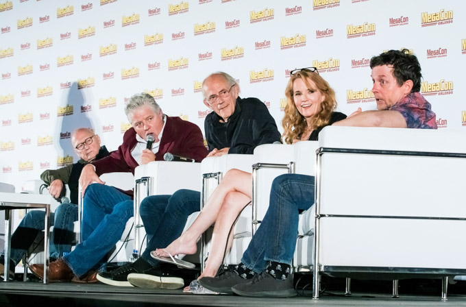 Cast of the movie Back to the Future at Megacon Orlando 2019