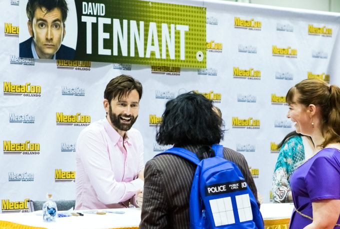Actor David Tennant signing autographs at Megacon Orlando 2019