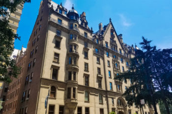 Side view of the Dakota building in New York City