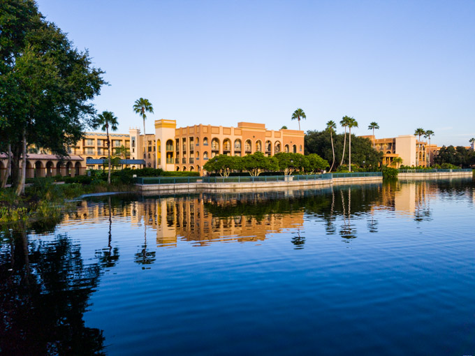 The Casitas buildings at Disney's Coronado Springs Resort