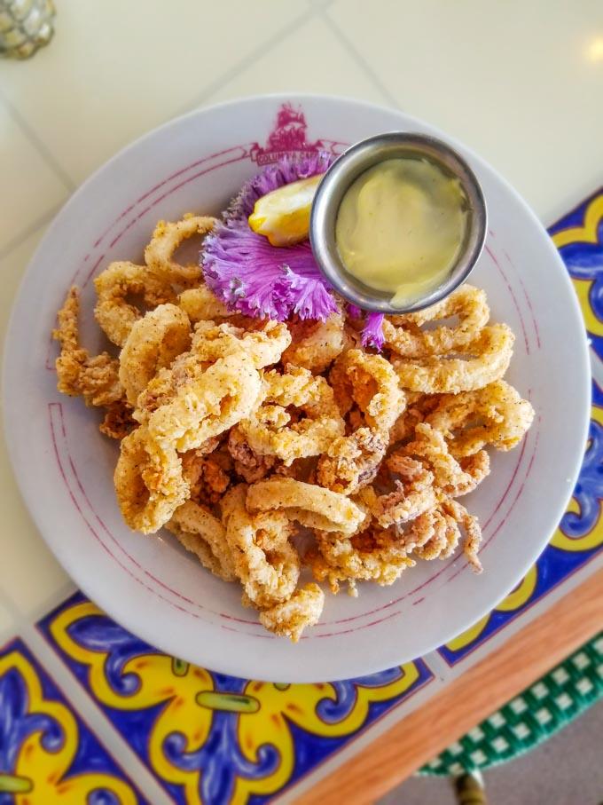 Fried calamari at Columbia Cafe