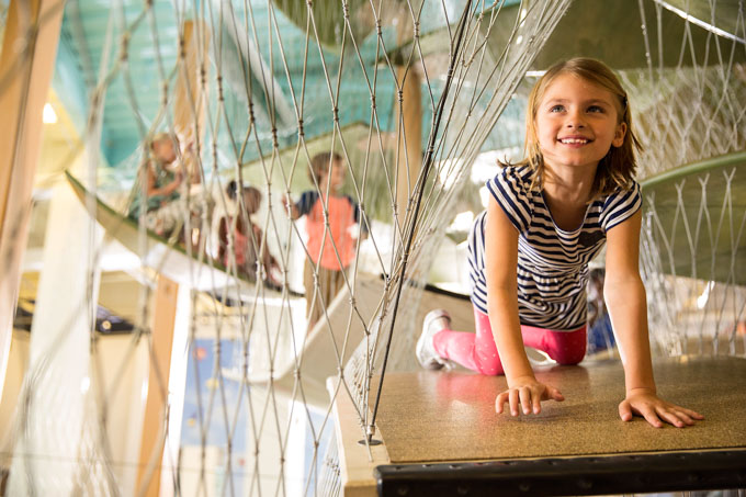 Glazer Childrens Museum climbing area, one of the best tampa attractions for families