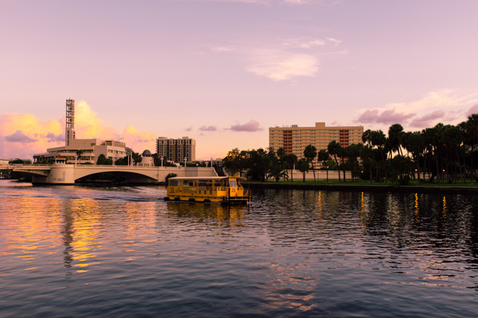 Pirate Water Taxi on the river in Tampa