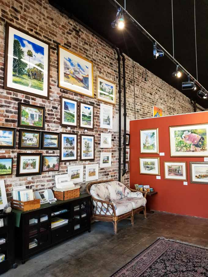 Interior of Gallery on First in downtown Sanford FL