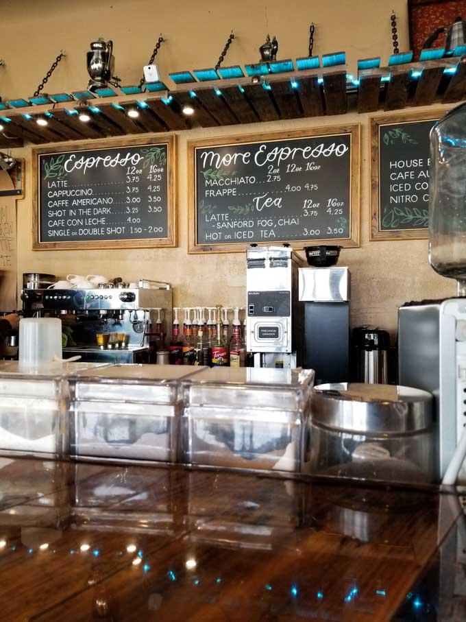 Interior of Palate Coffee Brewery