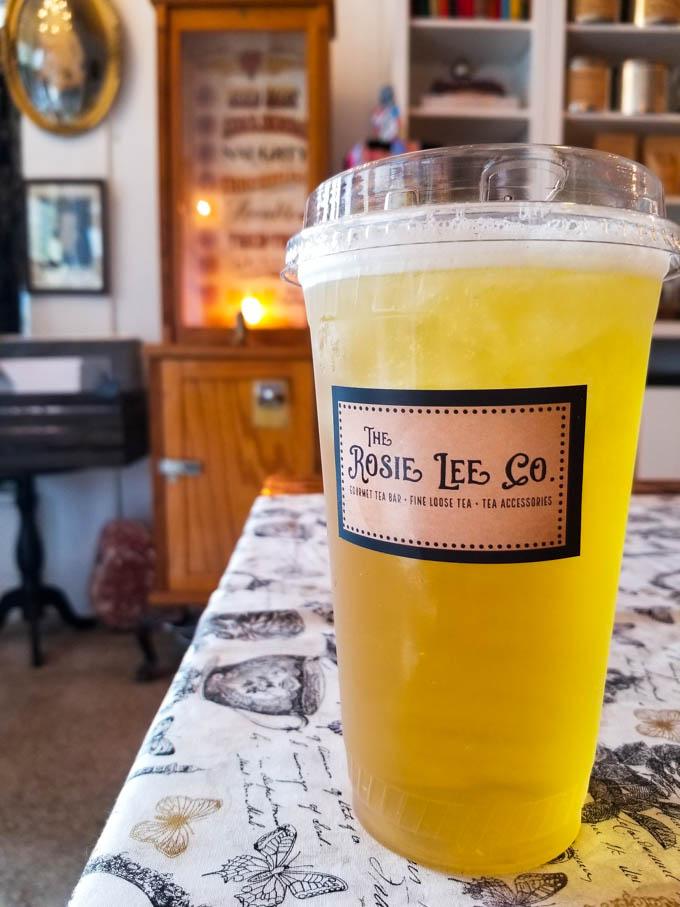 Sanford Sunshine iced tea at Rosie Lee Tea Company
