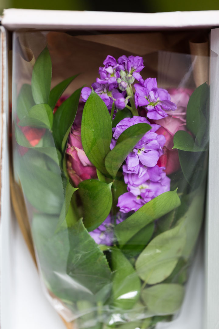 UrbanStems bouquet in a box